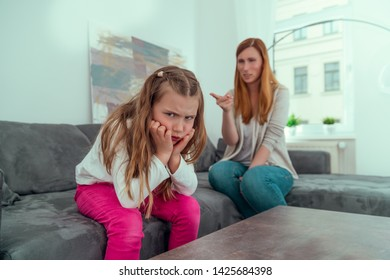 rantling mother with child at home