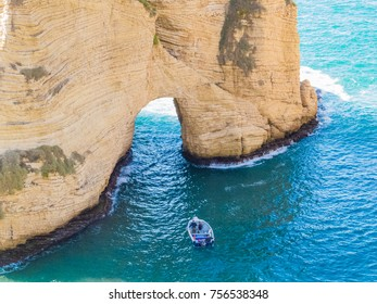 Raouche, Pigeons' Rock. In Beirut, Lebanon