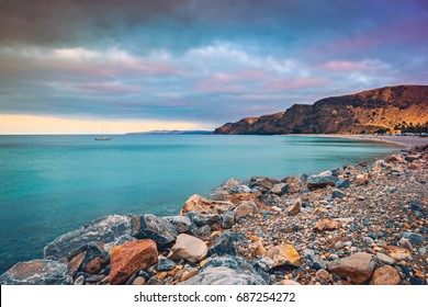 Rapid bay beach view at sunset, Second Valley, South Australia