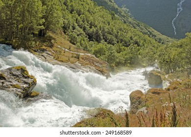 Rapid glacial river from Briksdalsbreen