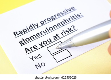 Rapid progressive glomerulonephritis: Are you at risk? Yes or no