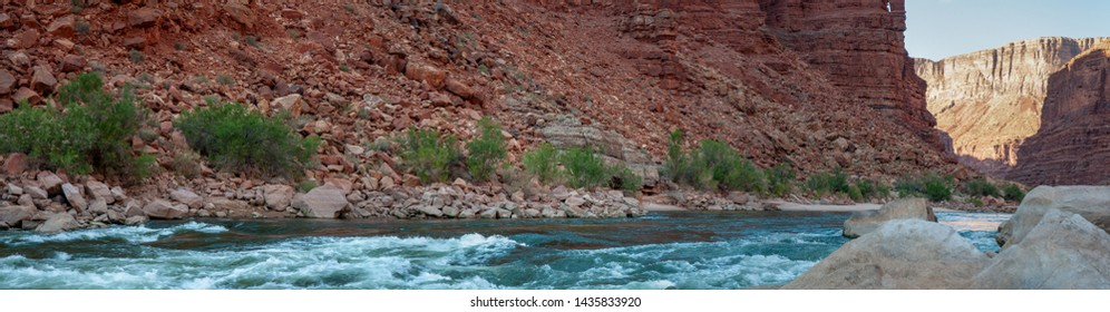 The rapid at River Mile 21 in the Marble Canyon portion of the Grand Canyon.