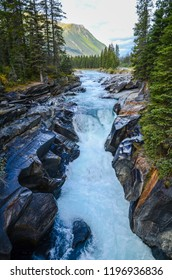 Rapid stream of Kootenay River in autumn, Kootenay National Park, Canadian Rockies, British Columbia, Canada