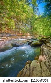 Rapids on River