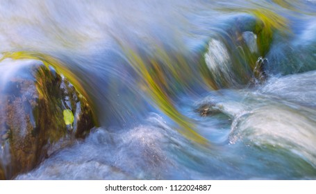 The rapids on the river, the texture of the water at slow shutter speeds.