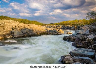 Rapids in the Potomac River at Great Falls Park, Virginia.