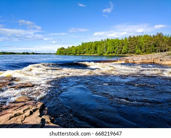 Rapids in the Torne river