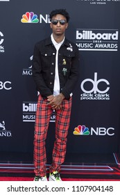 Rapper 21 Savage attends the Red Carpet at the 2018 Billboards Music Awards at the MGM Grand Arena in Las Vegas, Nevada USA on May 20th 2018