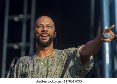 Rapper Common of the group August Greene On stage at the One Music Fest 2018 in Central Park Atlanta Georgia - USA on September 8th/ 9th 2018