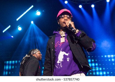 Rapper Quavo of the the trio group Migos performs at the 2nd annual V103 Winterfest concert on December 10th, 2016 at the Philips Arena in Atlanta, Georgia - USA