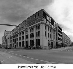 Rapperswil, Zurich / Switzerland - 09 15 2017: Building in town centre of Winterthur, Canton of Zurich