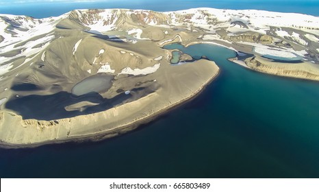 Rare aerial footage of Deception Island, Antarctica.