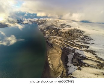 Rare aerial footage of Deception Island, Antarctica.