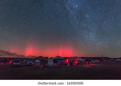 A rare aurora display over Oklahoma during the Okie-Tex Star Party.