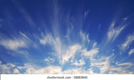 Rare Cirrus Cloud formation on a windy summer evening.