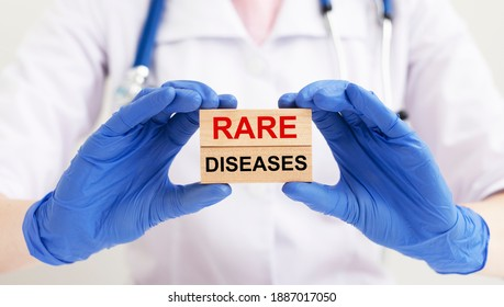Rare diseases inscription words. Medical concept of unusual disorders.