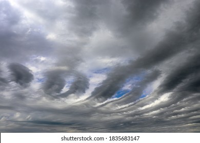 Rare gray clouds of Altostratus Undulatus