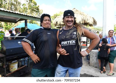 RAROTONGA, COOK ISLANDS - AUGUST 19 2017 - Punanga Nui Cultural Market is a 'must do' for visitors to the Cook Islands as it is quite a cultural representation of all the islands