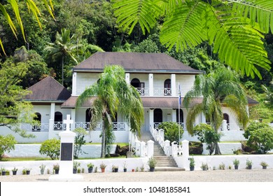 RAROTONGA - DEC 13 2017:Takoma theological college and the Mission House in Rarotonga, Cook Islands. The first theological college established in the South Pacific by the London Missionary Society.