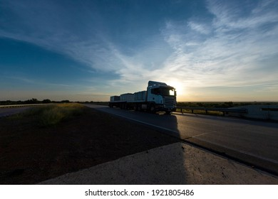 Rasesa Highway-Botswana- February 20, 2021- The Rasesa highway views at sunset