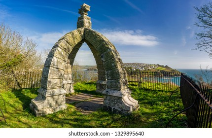 Rashleigh Mausoleum basking in the unseasonaly warm March sunshine just outside of Fowey/Readymoney in Cornwall, UK.