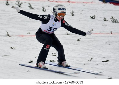Rasnov, Romania - 26th January 2019 : SEYFARTH Juliane from Germany competes in the FIS SKI JUMPING WORLD CUP LADIES