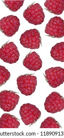 Raspberries background, fresh summer fruit. Top view.