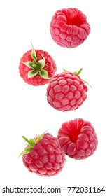 raspberries isolated on a white background