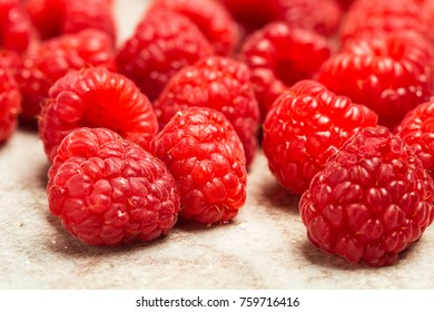 Raspberries on a plate