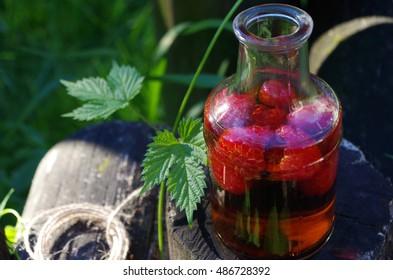 raspberry balsamic vinegar - Shutterstock ID 486728392