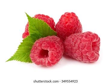 Raspberry fruit isolated over white background