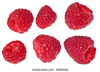 raspberry isolated on a pure white background