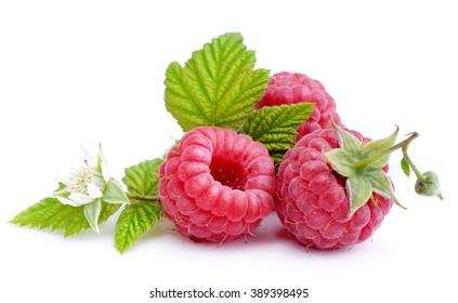 Raspberry isolated on white background.