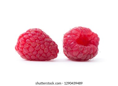 Raspberry isolated. Raspberry on white. Raspberries.