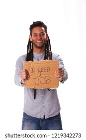 Rastafari young man seeking for a job