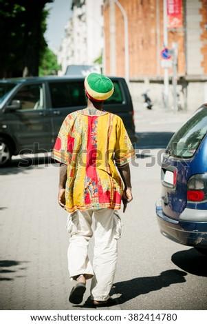 Rastaman wearing tradition al