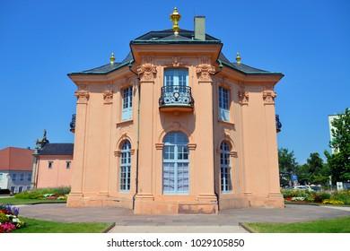 RASTATT, GERMANY - JULY 8: Old pagoda garden house build in 1722, on July 8. 2017 in Rastatt, Germany