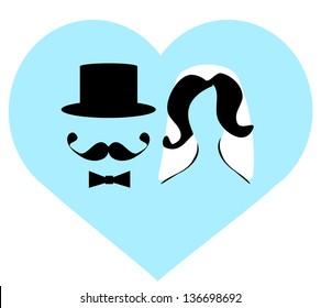 raster bride and groom wedding couple
