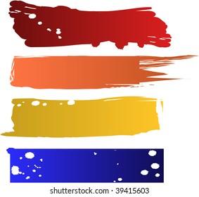 raster color banners set (vector version in portfolio)