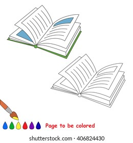 Raster copy. Cartoon book to be colored. Coloring book for children.