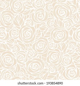 Raster copy of  Vintage floral seamless pattern.  Easily editable, objects in the center not cut, every flower and leaf is a separate group.