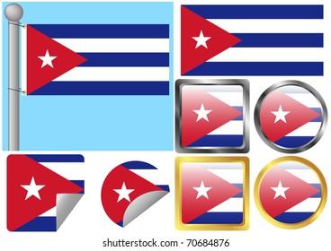 Raster Flag Set Cuba