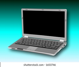 raster graphic depicting a laptop notebook personal computer