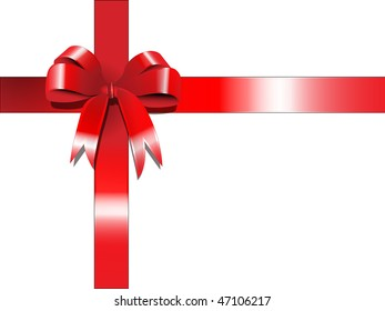 Raster graphic depicting a red banner ribbons set of vector illustration