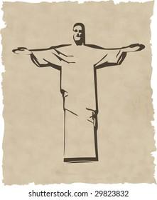 the raster iesus christ rio de janeiro statue silhouette