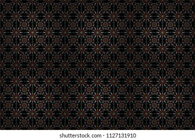 Raster illustration. Cutout paper lace texture, raster tulle background, swirly seamless pattern in gray colors.