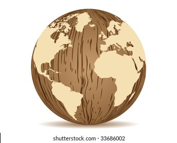 (raster image of vector) abstract earth wooden texture