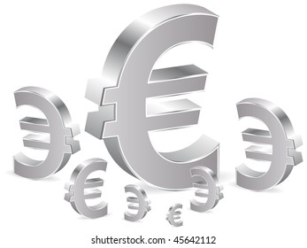 (raster image of vector) Business background with euro