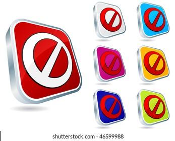 (raster image of vector) forbidden buttons