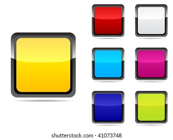 (raster image of vector) web buttons different colors